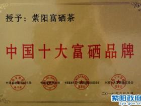 紫阳富硒茶再次荣登中国十大富硒品牌榜首
