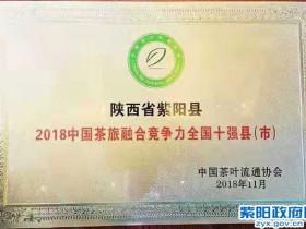 紫阳在中国茶业经济年会上荣获两项大奖